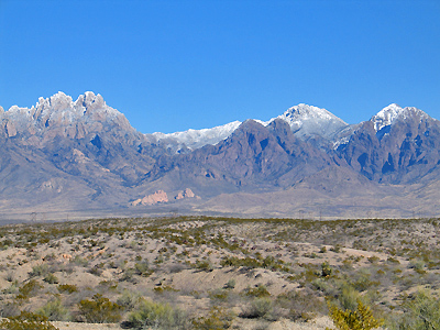 Organ Mountains - Light Snow