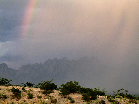 Organ Mountains - Rain and Rainbow