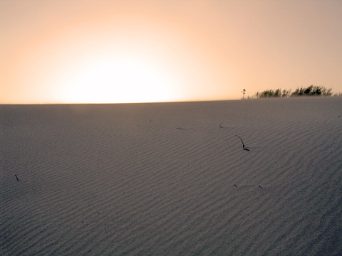 Dustset at White Sands