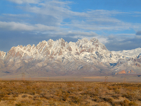 December Snow - Organ Mountains - Dec 12, 2011