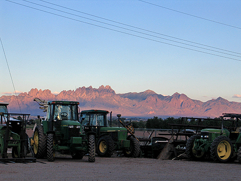 Organ Mountains and Tractors