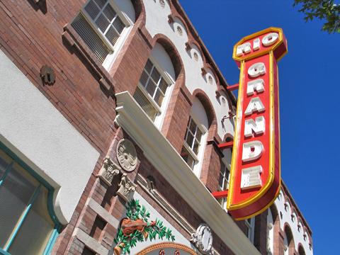 Rio Grande Theatre - Restored Marquee