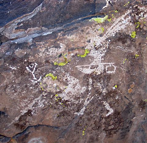 Petroglyph soldier
